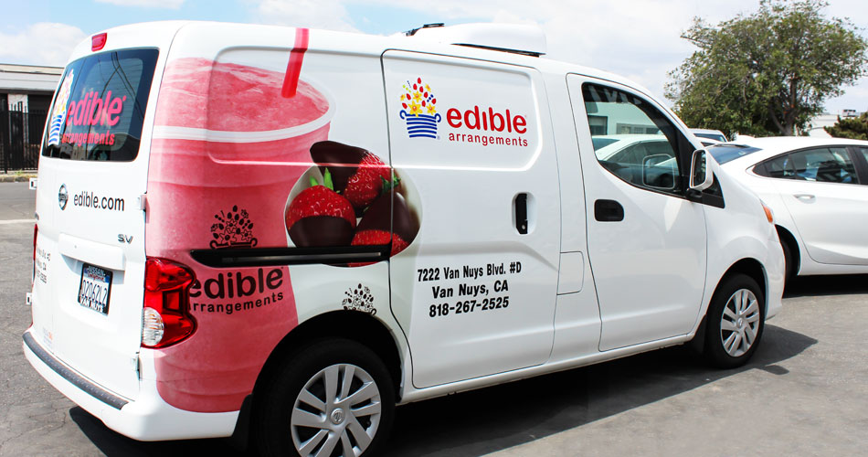 edible arrangements car branding