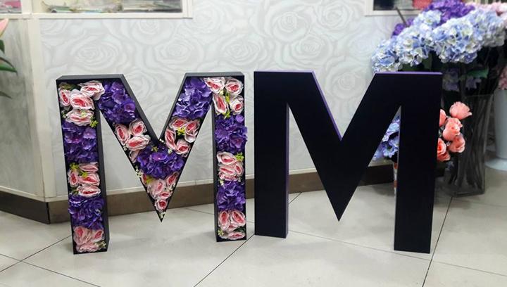 gatorboard freestanding 3d letters