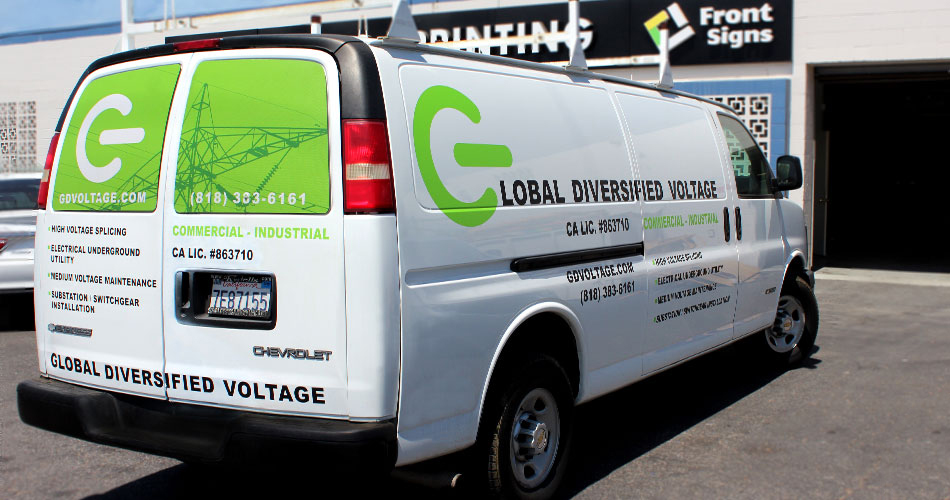 van advertising