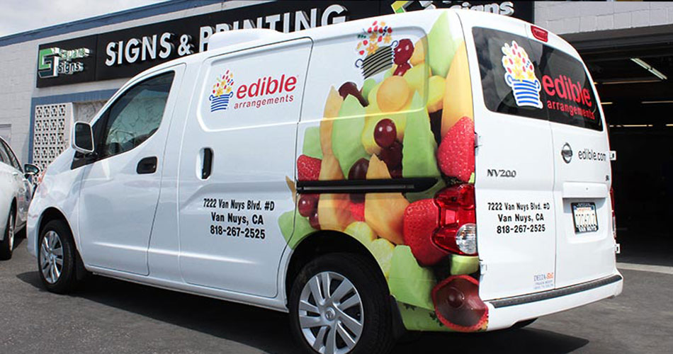 vehicle advertising for food industry