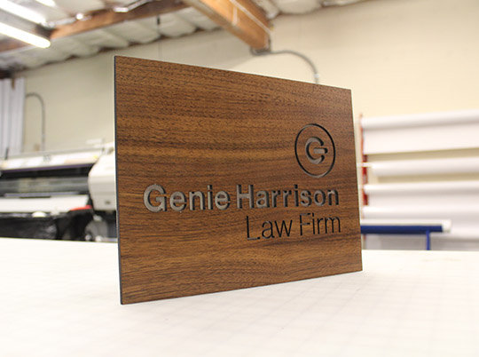 wooden sign-profile