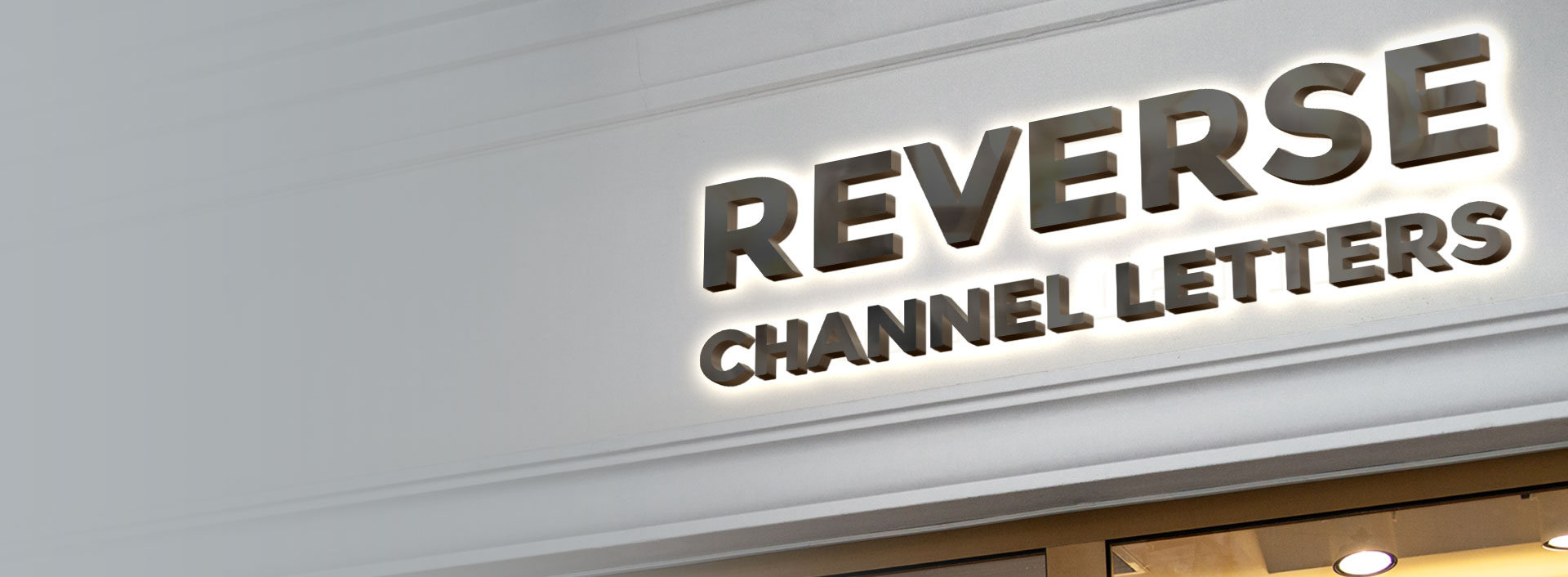 Custom Reverse Channel Letter Sign