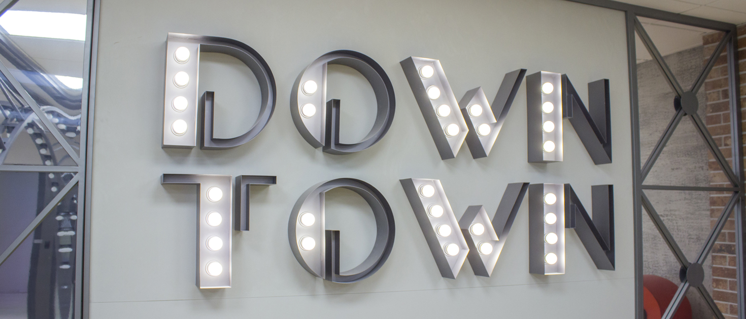 Down Town marquee letters