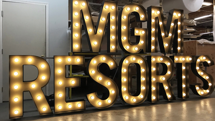 MGM Resorts marquee letters