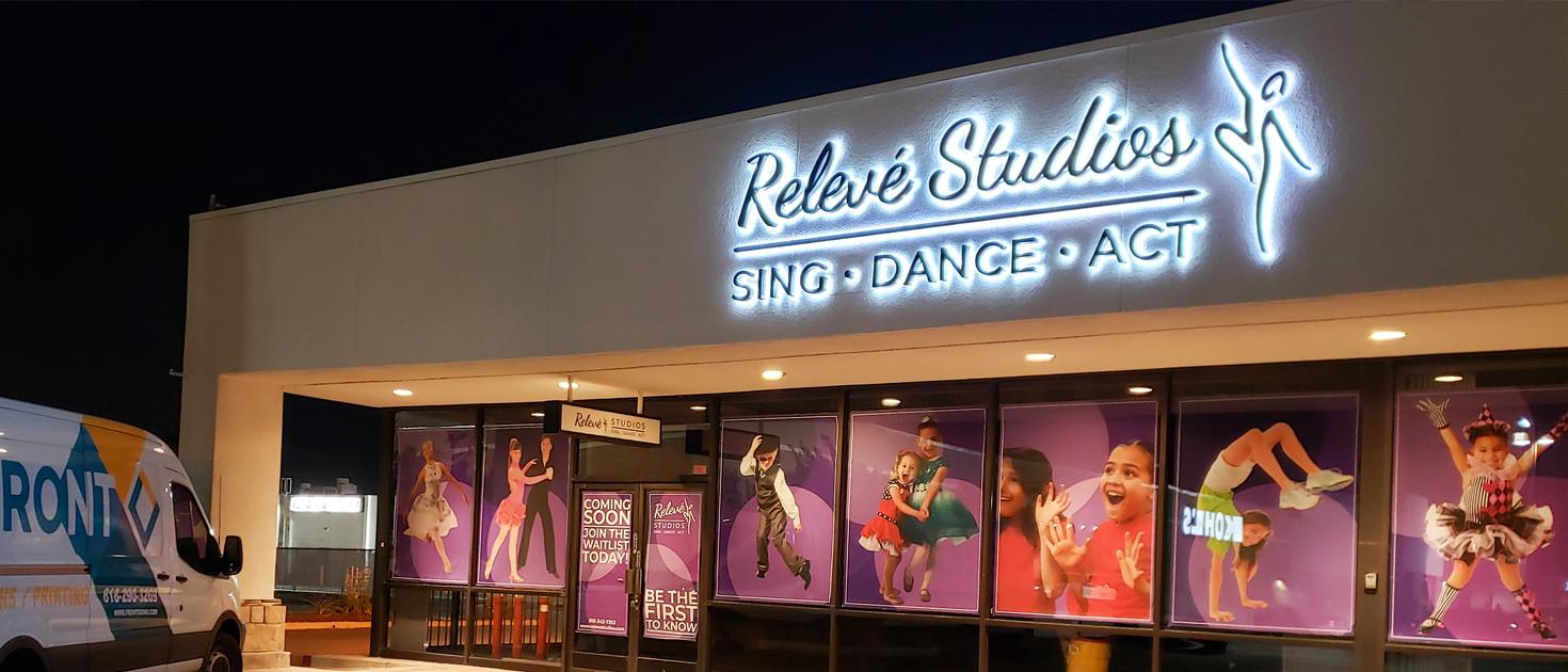 Releve Studios reverse lit letters