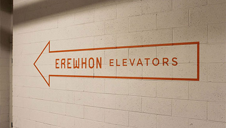 Erewhon-elevator-directional-signs