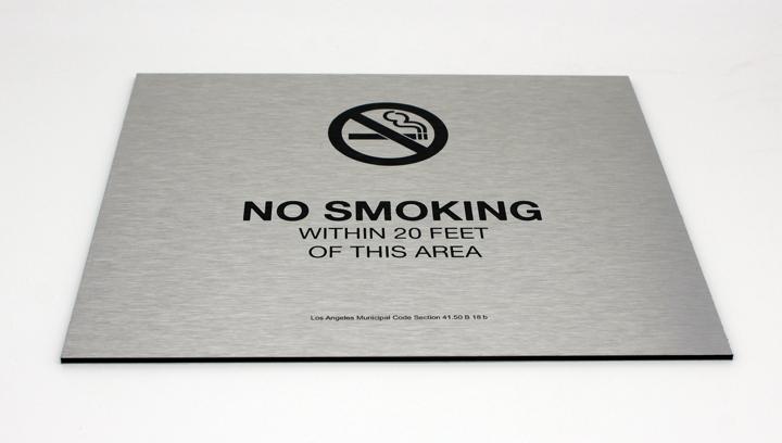 No smoking information sign