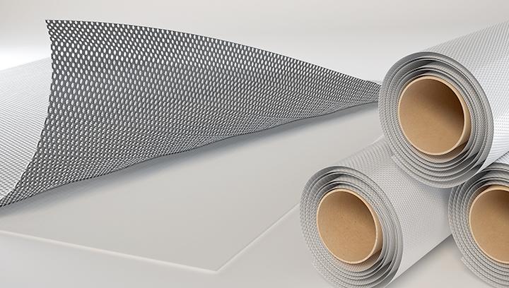 Perforated vinyl material