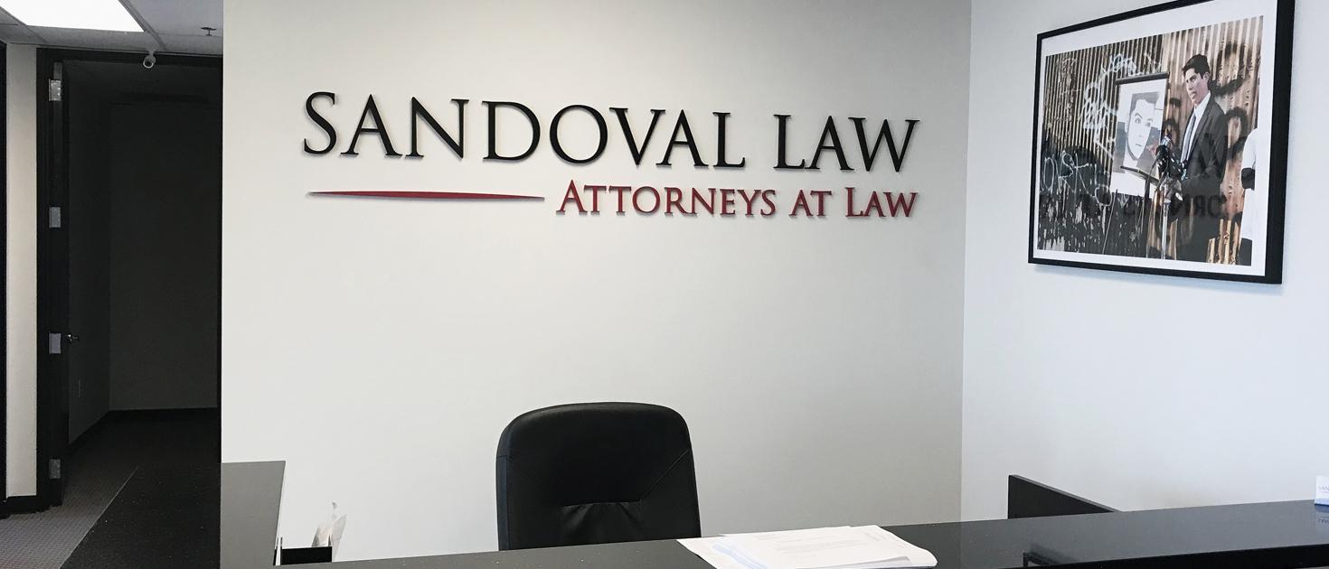 Sandoval LAW reception sign
