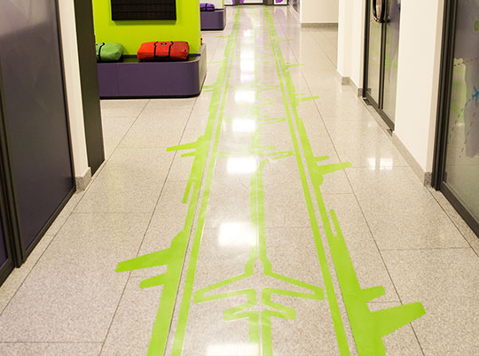 highly adhesive floor decals
