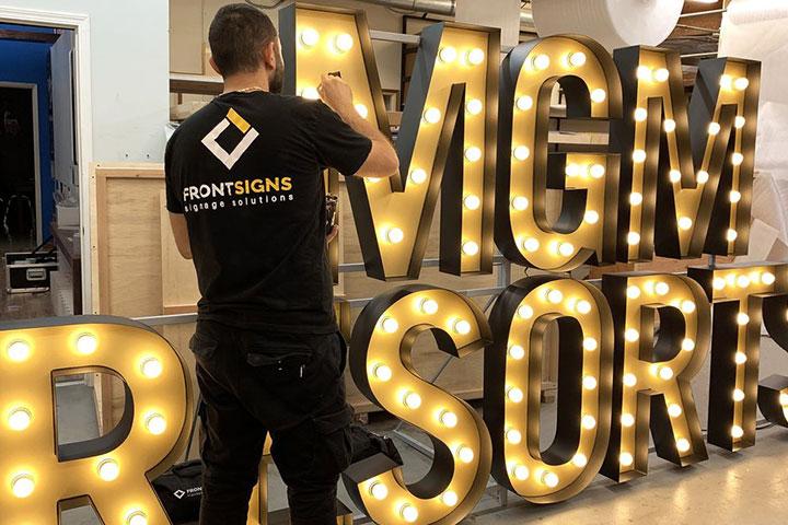 illuminated sign repair