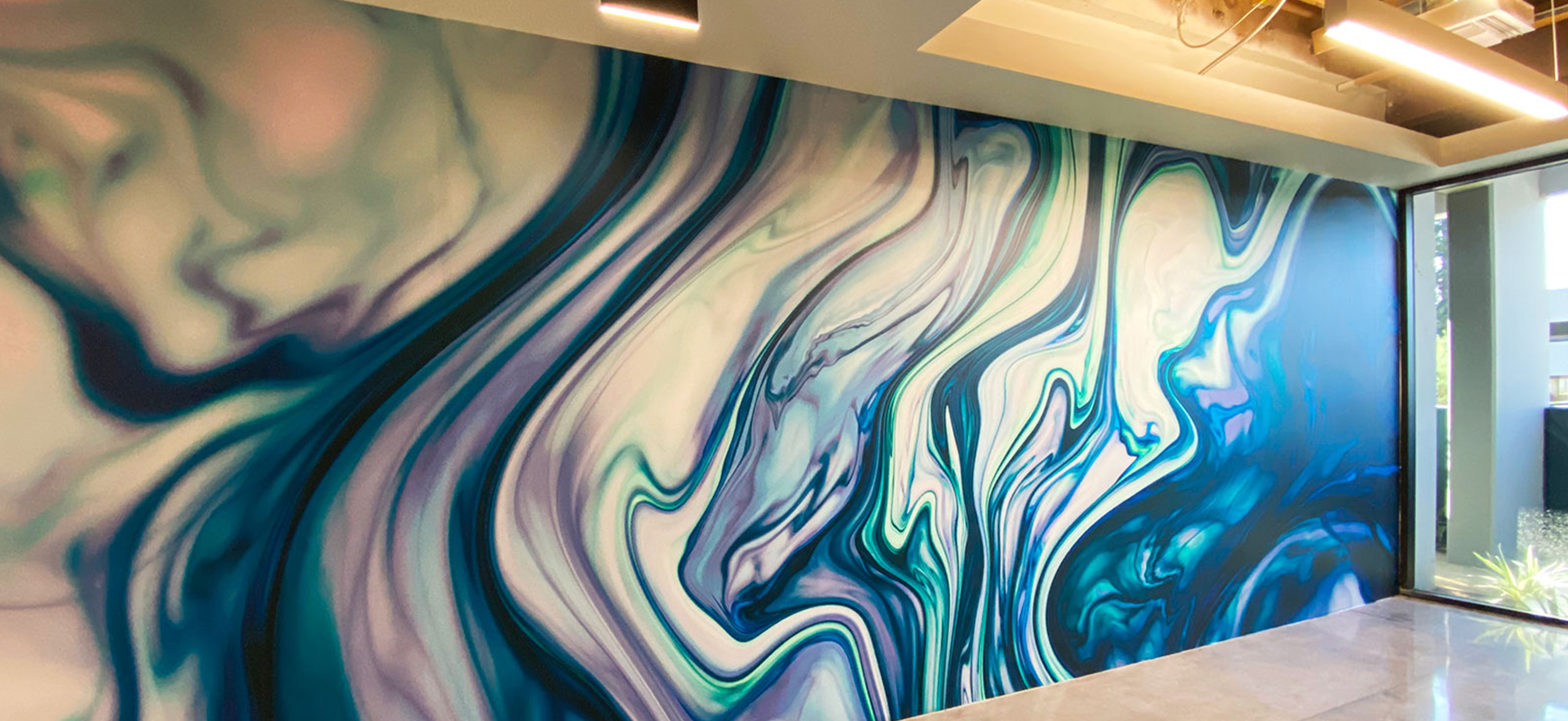 colorful custom decals made of opaque vinyl for interior wall decorating