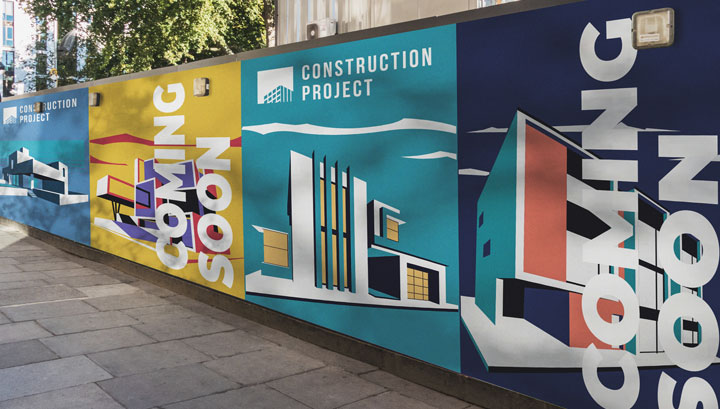 large format construction hoarding