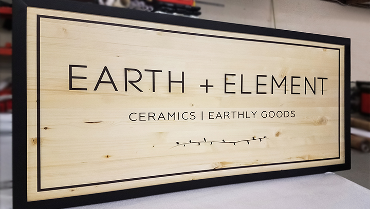 large format wooden print