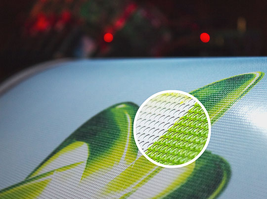 perforated decal