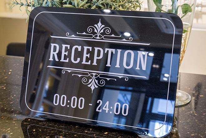 reception-signs