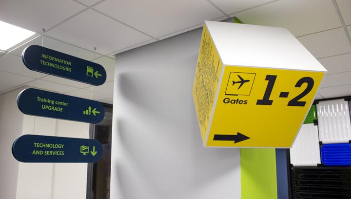wayfinding lobby sign
