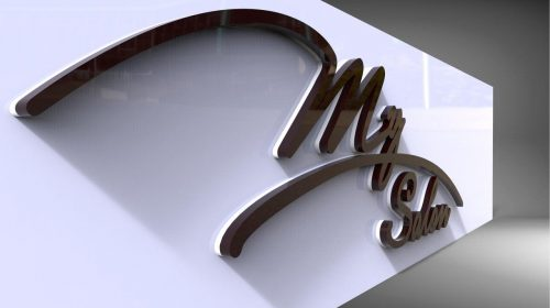 3d letters graphic design