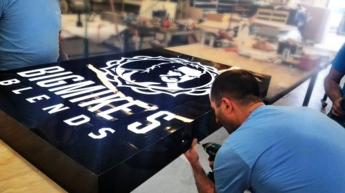 Acrylic Sign Installation process