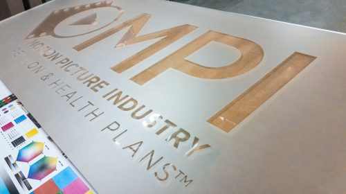 Acrylic Sign with Frosted Vinyl
