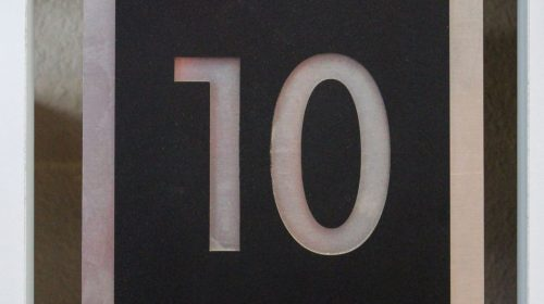 Acrylic and Aluminum Number Sign