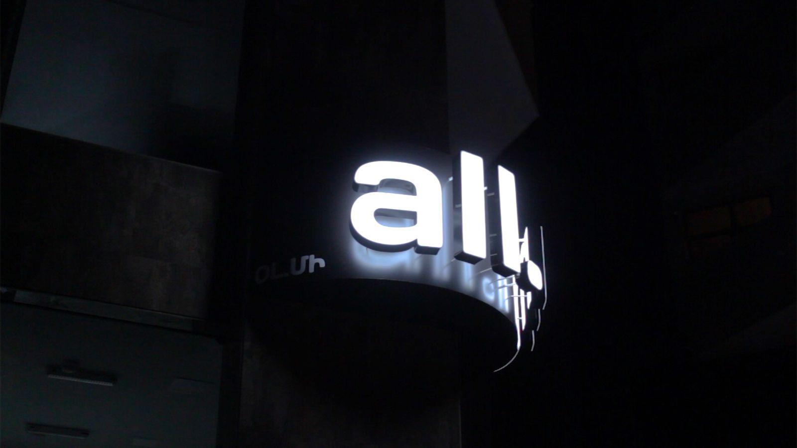 Acrylic whole face illuminated letters