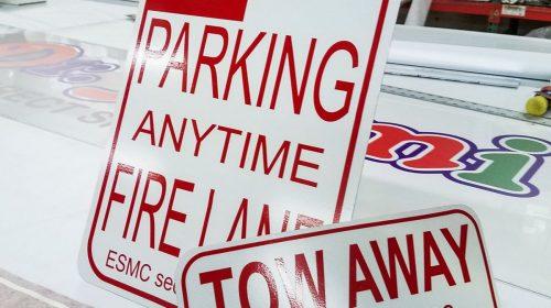 Aluminum Parking Sign