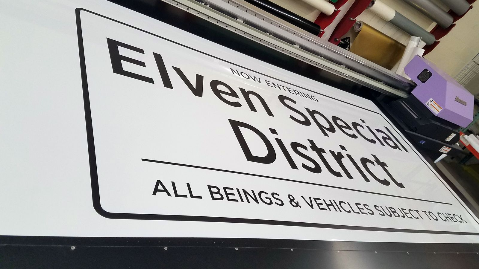 Aluminum sign direct uv printing