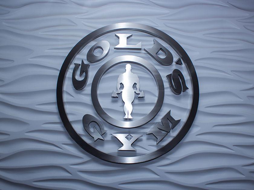 Brushed Aluminum Logo Sign