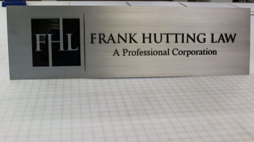 Brushed Aluminum Name Sign