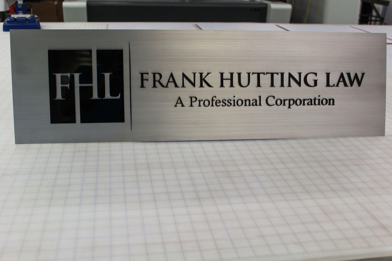 Brushed Aluminum Name Sign