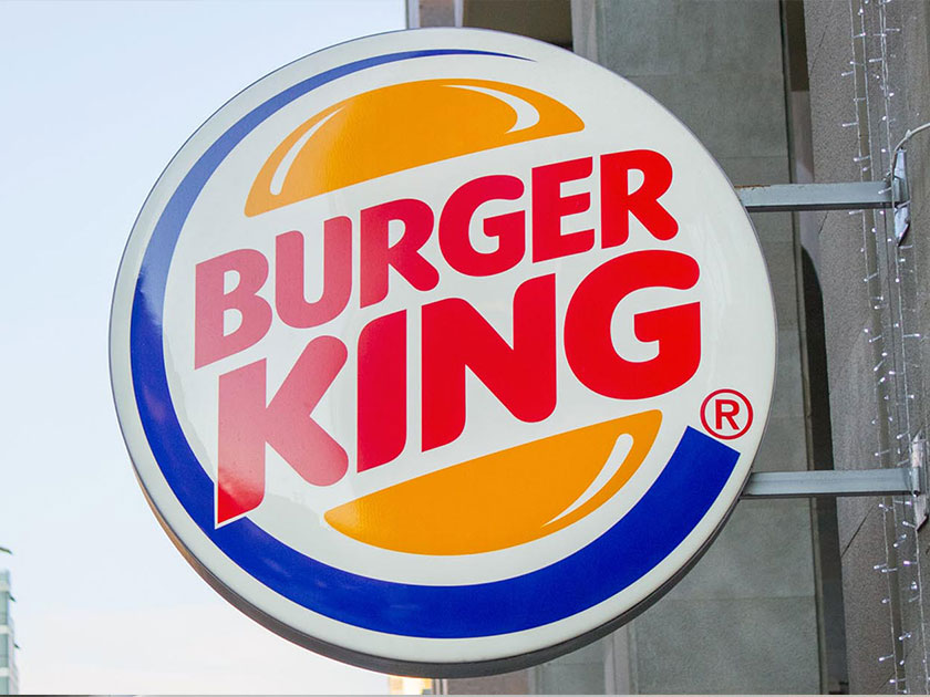 Burger King Lightbox Sign