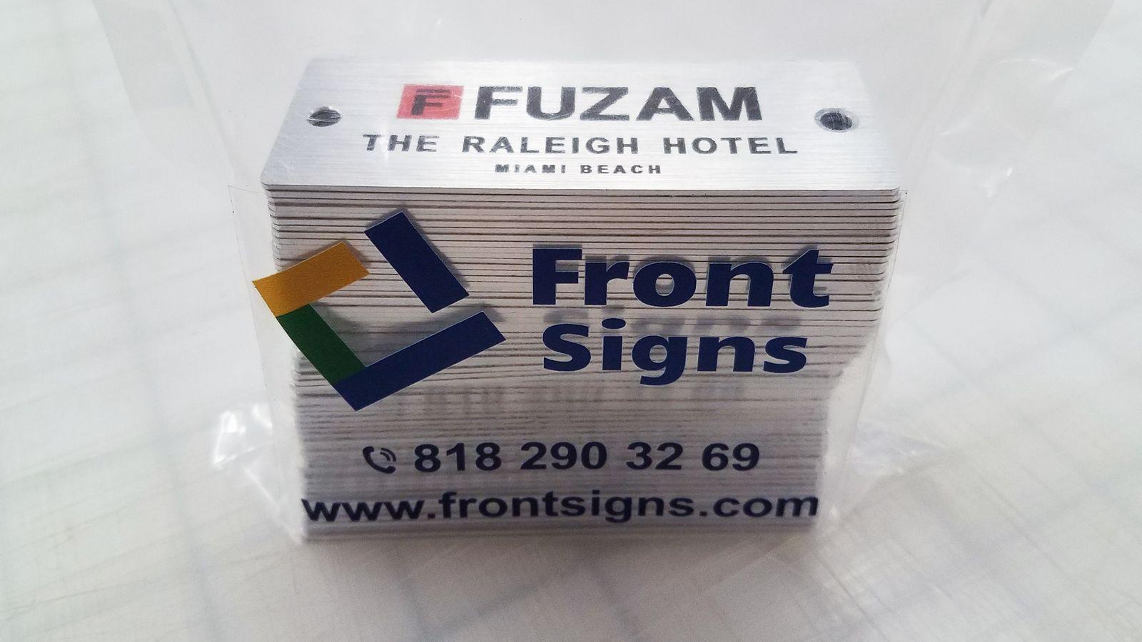 Custom made Brushed aluminum signs