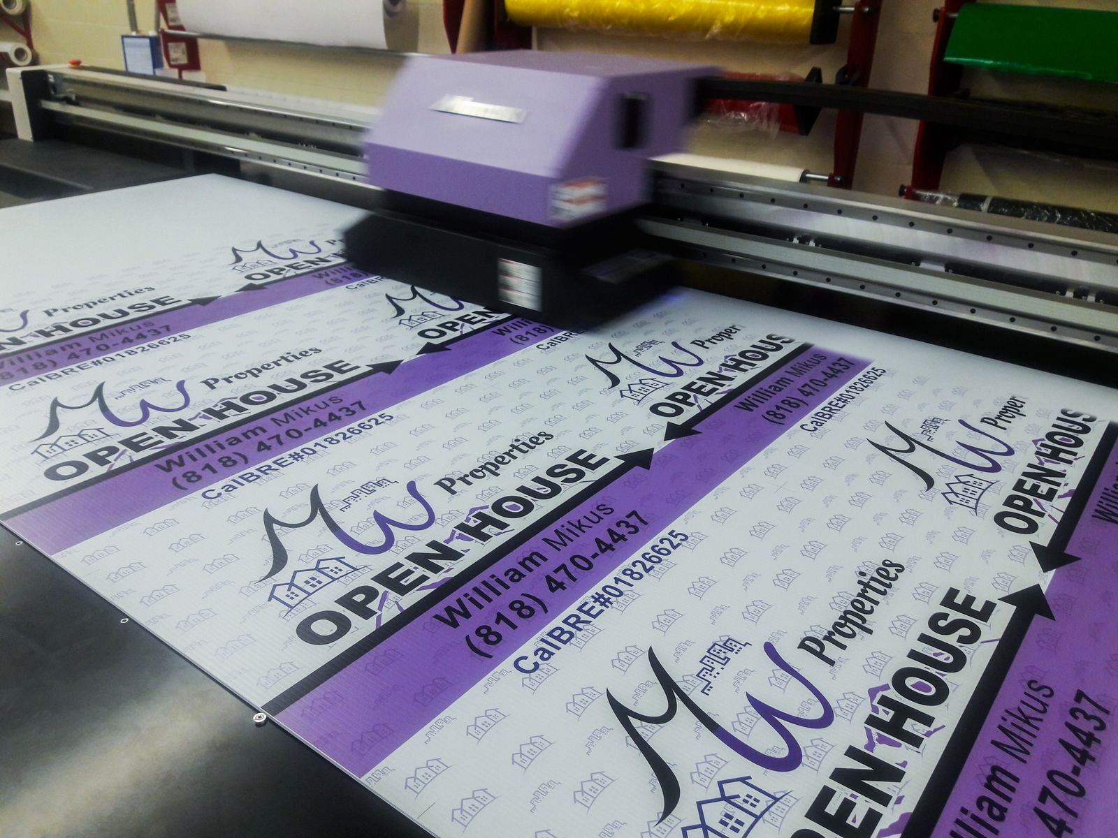 Direct Printing Coroplast Sign