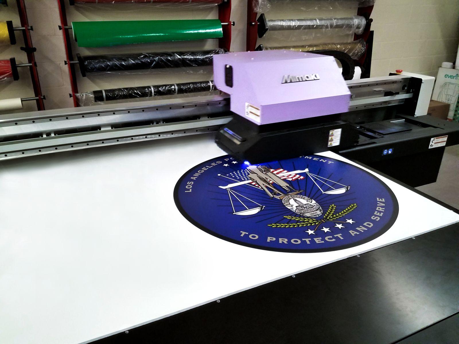 Direct Printing a PVC Sign