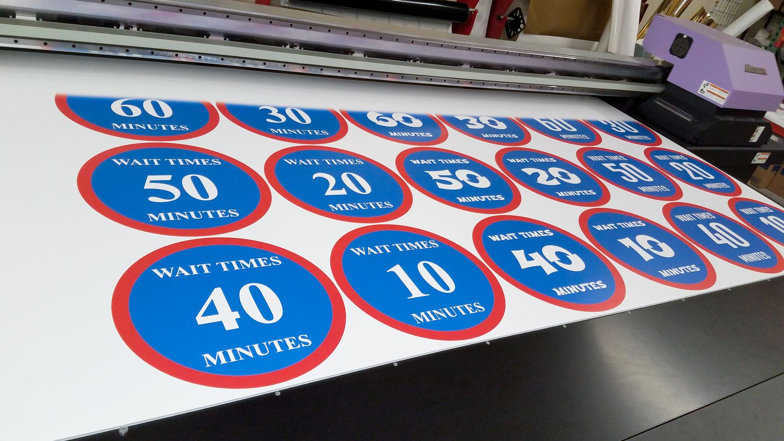 Direct printing a Gatorboard Sign