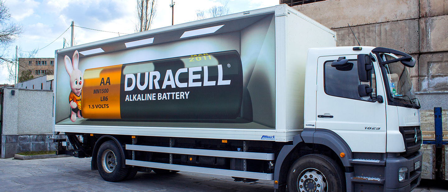 Duracell Truck Wrapped