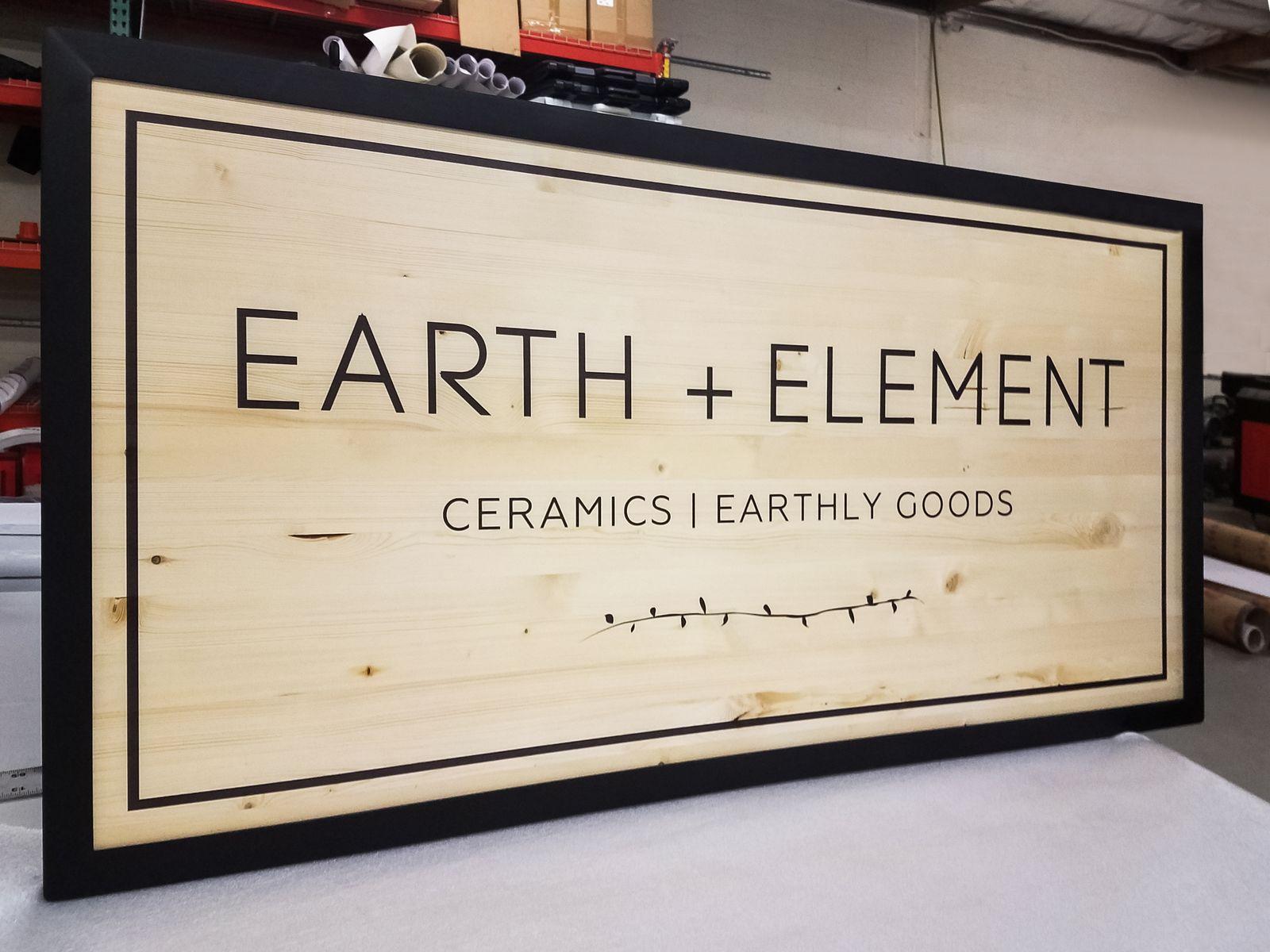 Elegant Wooden Signage