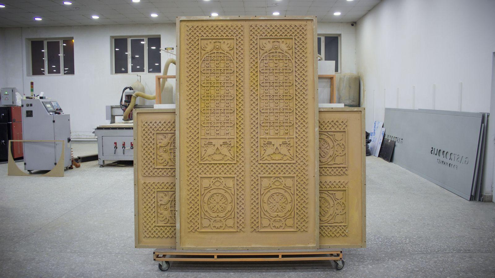 Engraved Wooden Doors