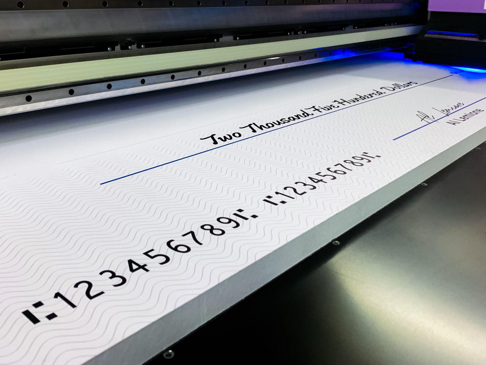Foamboard Cheque Direct Printing
