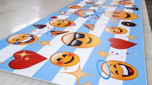 Foamboard Sign with emojis