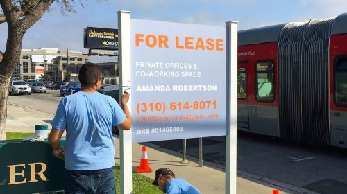 For Lease Sign Installation