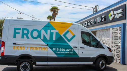 Front Signs vehicle wrap