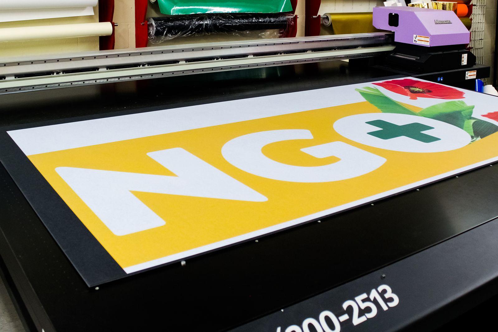 Gatorboard direct printing process