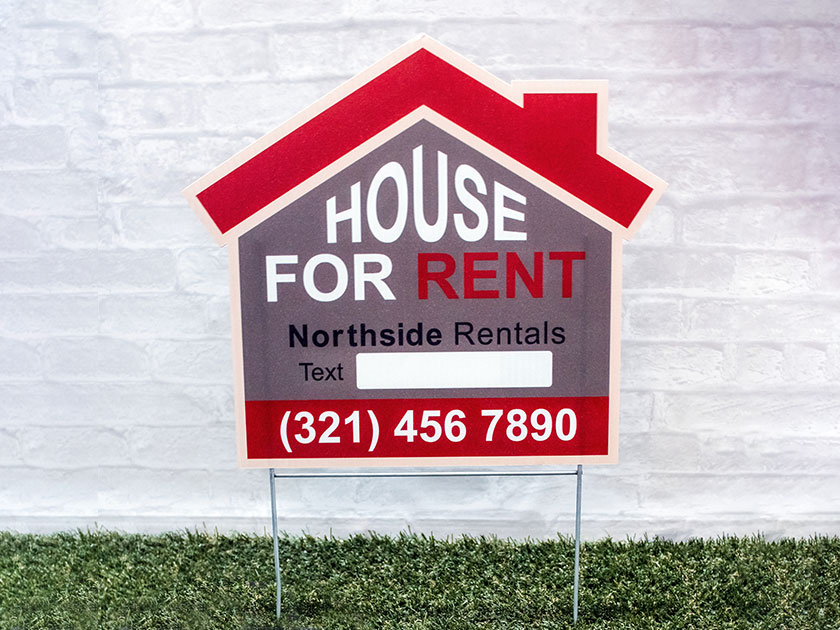 House Rent Yard Sign