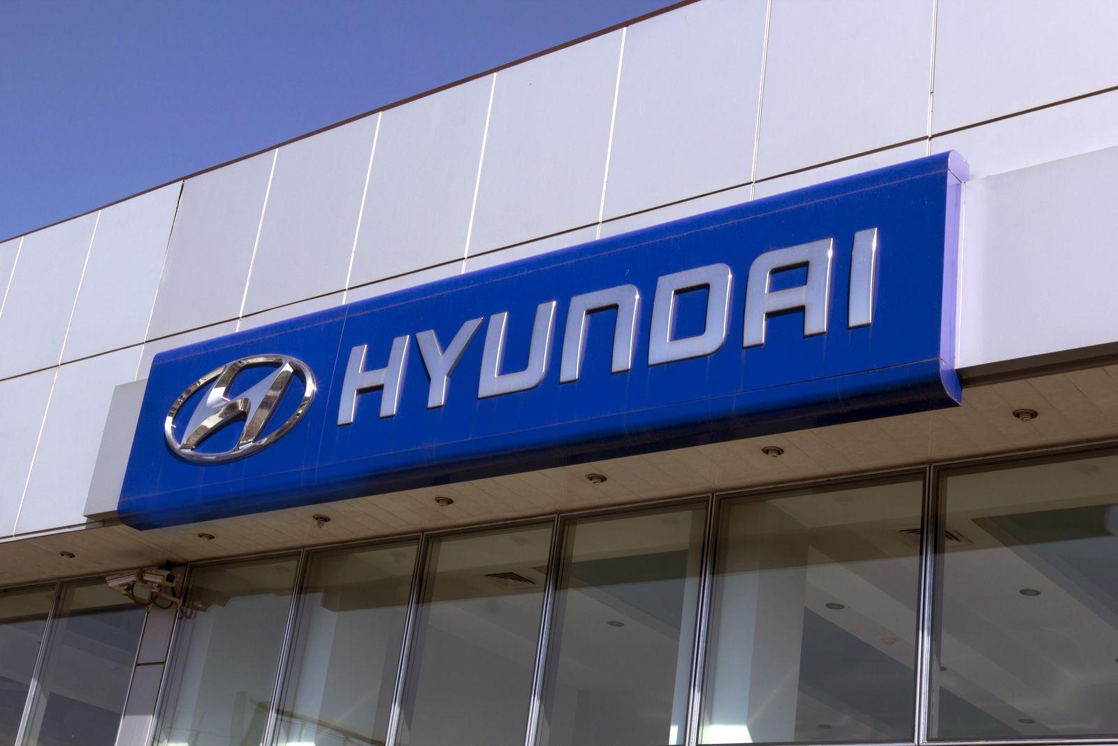 Hyundai Aluminum Sign