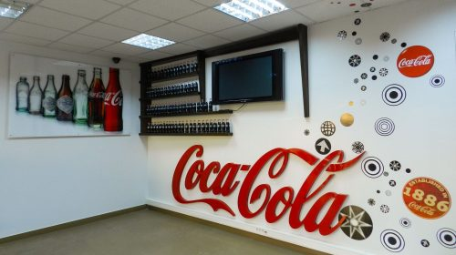 Interior coca-cola signs