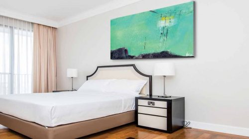 Interior decoration with canvas wall art