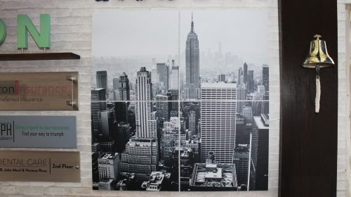 New York scenery on PVC