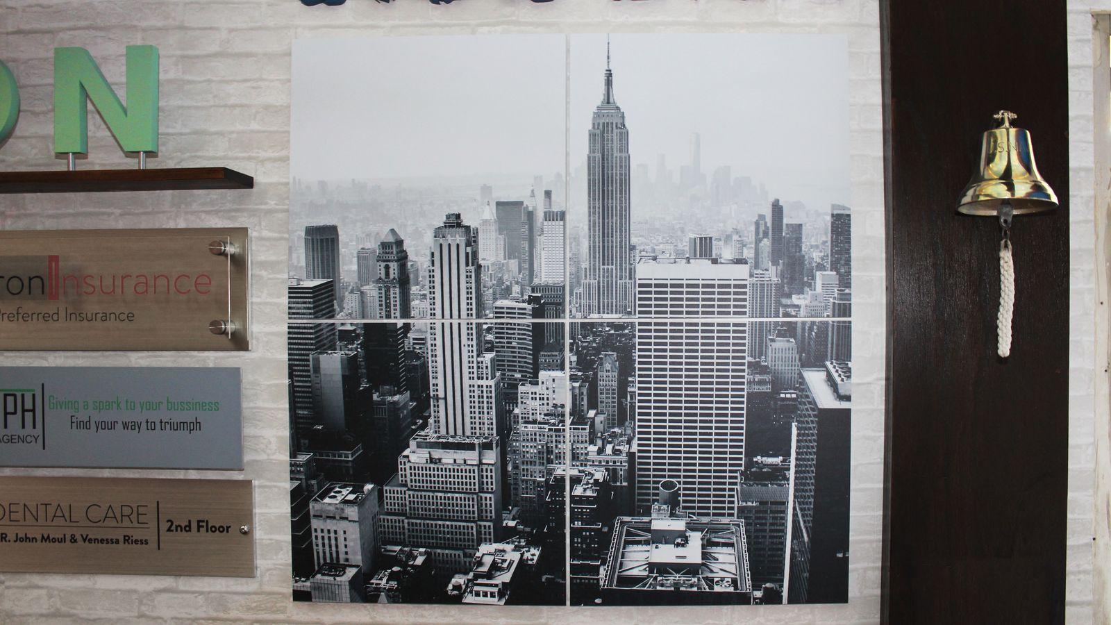 New York scenery on PVC